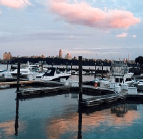 pink sunset at marina 2