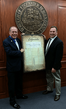 Mayor McPartland and John Hogan