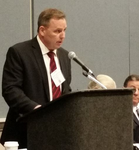 Mayor McPartland at League of Municipalities
