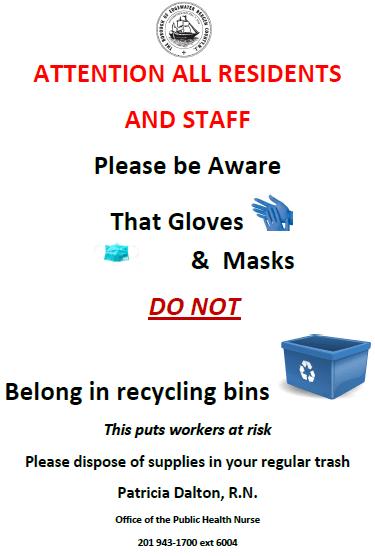 gloves  masks disposal